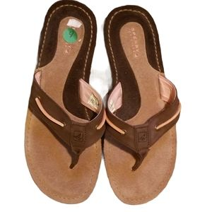 SPERRY TOPSIDER Suede & Nubuck Sandals (Size 8M)